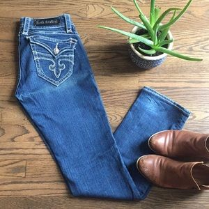 Rock Revival boot cut blue jeans